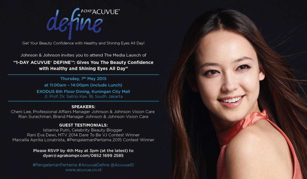 Media Launch E-Invitation - Acuvue Define 7 May 2015