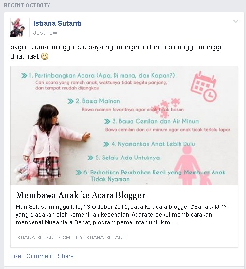 Hasil Share Post