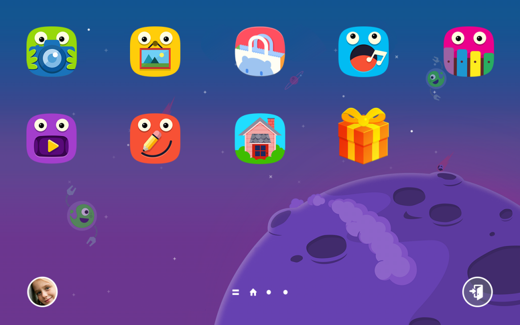 Tampilan Homescreen Kids Mode