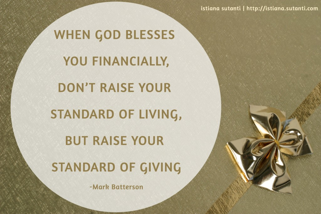 Raise Standard Of Giving