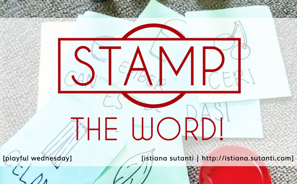 playful wednesday - stamp the word